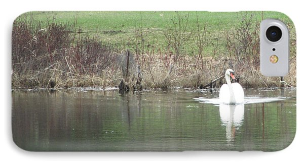 Spring Swan IPhone Case by Wendy Shoults