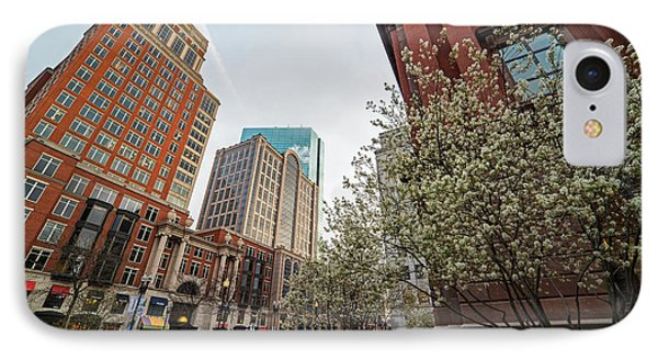 Spring Time On Boylston Street Boston Massachusette IPhone Case by Toby McGuire