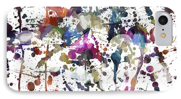 IPhone Case featuring the digital art Spring Time Splat by Margie Chapman