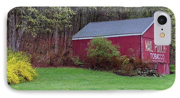IPhone Case featuring the photograph Spring Tobacco Barn by Bill Wakeley
