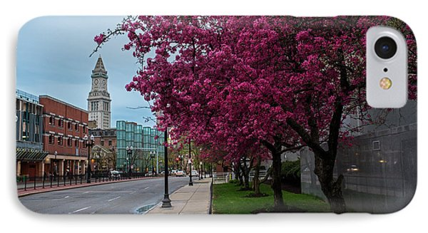 Spring Trees In Boston Fnaueil Hall IPhone Case by Toby McGuire