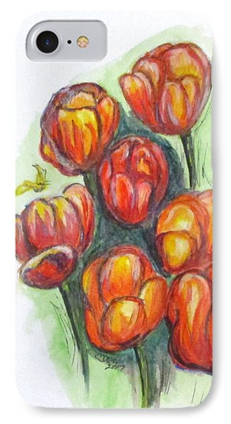 Spring Tulips IPhone Case by Clyde J Kell