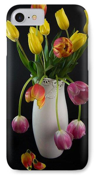 Spring Tulips In Vase IPhone Case