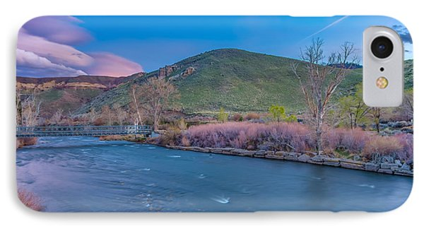 Spring Twilight Along The Truckee River Reno Nevada IPhone Case by Scott McGuire