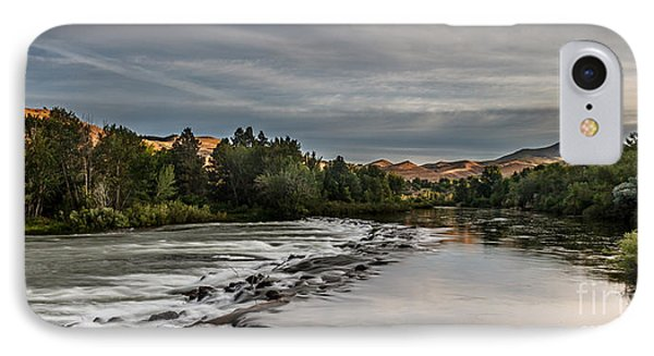 Spring View Of The Payette River IPhone Case by Robert Bales
