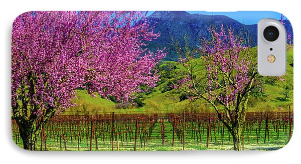 Spring Vineyards And Mt St Helena IPhone Case by Garry Gay