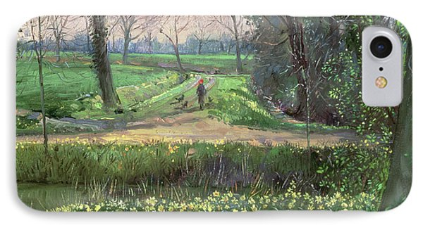 Spring Walk IPhone Case by Timothy Easton