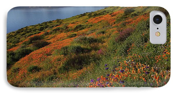 IPhone Case featuring the photograph Spring Wildflower Season At Diamond Lake In California by Jetson Nguyen