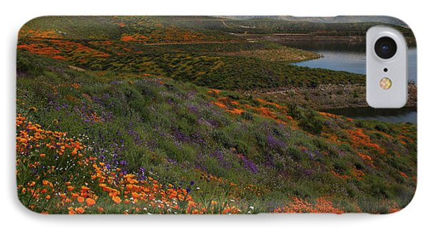IPhone Case featuring the photograph Spring Wildflowers At Diamond Lake In California by Jetson Nguyen