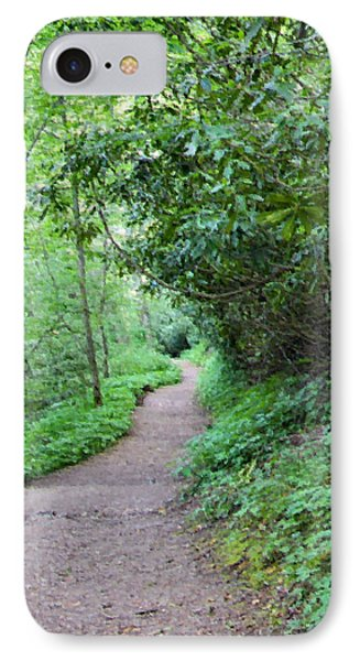 Springing Down The Path IPhone Case by Kristin Elmquist