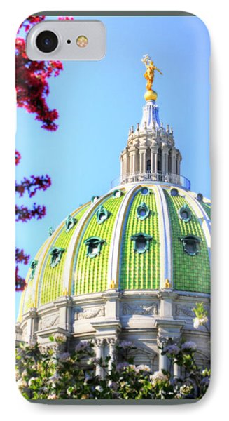 IPhone Case featuring the photograph Spring's Arrival At The Pennsylvania Capitol by Shelley Neff