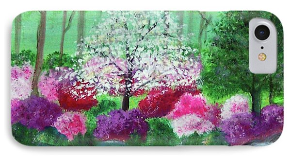 IPhone Case featuring the painting Springtime Azaleas In Georgia by Sonya Nancy Capling-Bacle