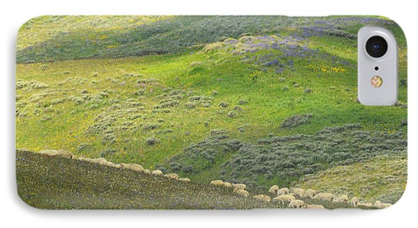 IPhone Case featuring the photograph Springtime Graze.. by Al  Swasey