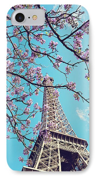 Springtime In Paris - Eiffel Tower Photograph IPhone Case by Melanie Alexandra Price