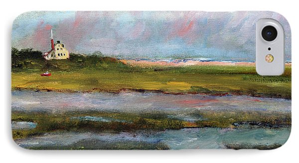 IPhone Case featuring the painting Springtime In The Marsh by Michael Helfen