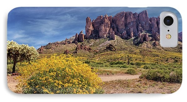 IPhone Case featuring the photograph Springtime In The Superstition Mountains by James Eddy