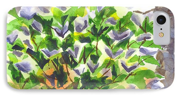 IPhone Case featuring the painting Springtime Lilac Abstraction by Kip DeVore