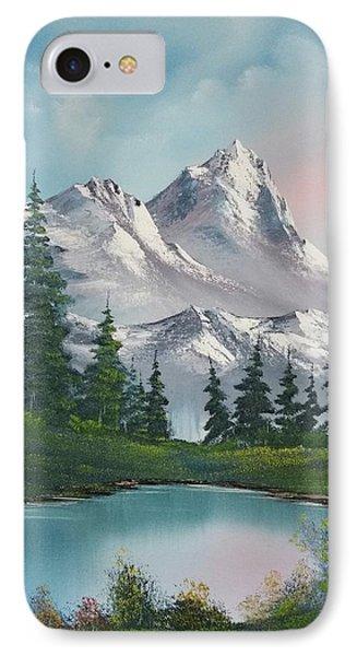 Springtime Mountain IPhone Case by John Koehler