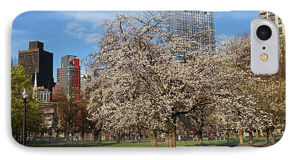 Springtime On Boston Common Boston Ma Millennium Tower IPhone Case by Toby McGuire