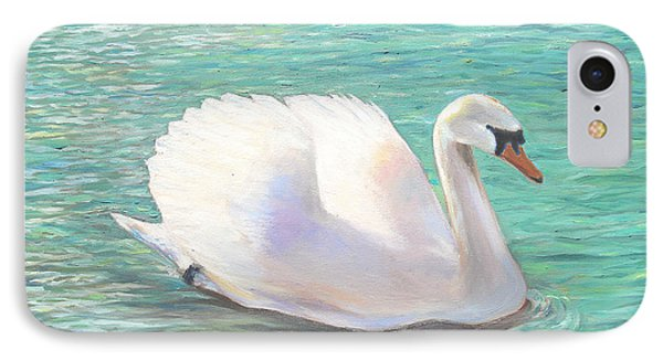 IPhone Case featuring the painting Springtime On The River by Elizabeth Lock