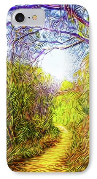 Springtime Pathway Discoveries IPhone Case by Joel Bruce Wallach