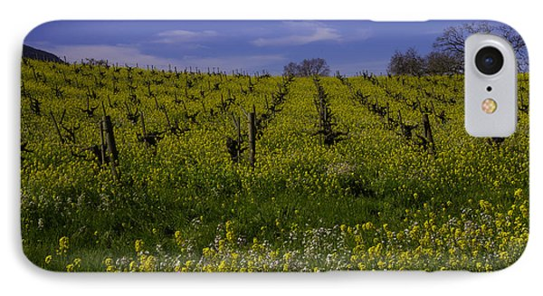 Springtime Vineyards Sonoma IPhone Case by Garry Gay