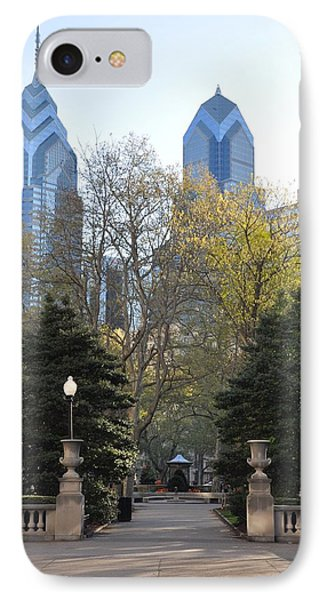 Sprintime At Rittenhouse Square Phone Case by Bill Cannon