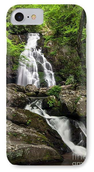 IPhone Case featuring the photograph Spruce Flats Falls - D009919 by Daniel Dempster
