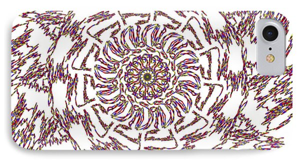 Spun Floral Red 3 IPhone Case by Catherine Lott