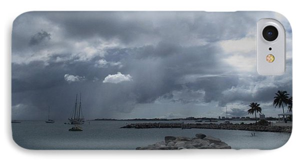 Squall In Simpson Bay St Maarten IPhone Case by Christopher Kirby