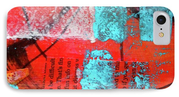 IPhone 7 Case featuring the mixed media Square Collage No. 10 by Nancy Merkle