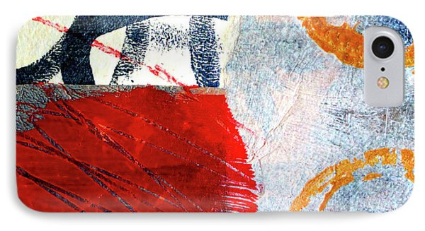 IPhone 7 Case featuring the painting Square Collage No. 3 by Nancy Merkle