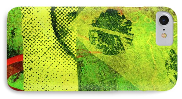 IPhone Case featuring the mixed media Square Collage No. 8 by Nancy Merkle