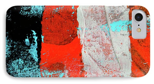 IPhone 7 Case featuring the mixed media Square Collage No. 9 by Nancy Merkle