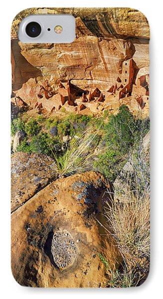 Square Tower House At Mesa Verde National Park - Colorado - Pueblo Phone Case by Jason Politte