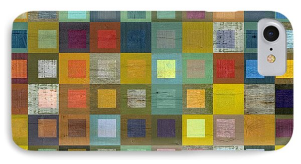 Squares In Squares Five IPhone Case by Michelle Calkins