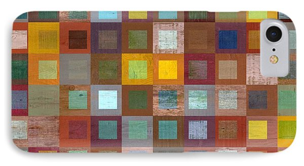 Squares In Squares Four IPhone Case by Michelle Calkins