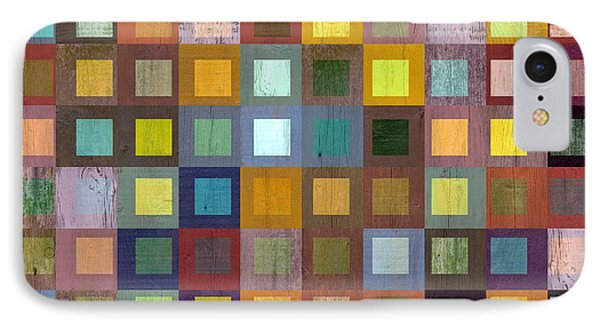 IPhone Case featuring the digital art Squares In Squares One by Michelle Calkins