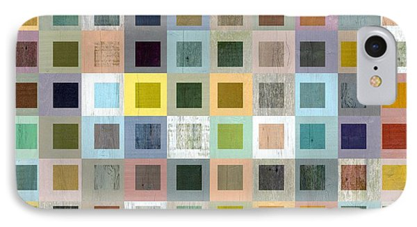 Squares In Squares Three IPhone Case by Michelle Calkins
