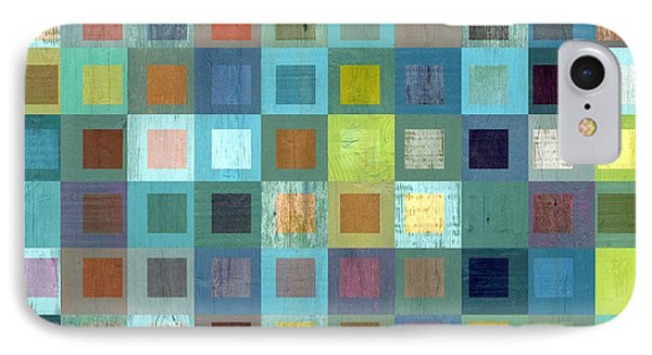 Squares In Squares Two IPhone Case by Michelle Calkins