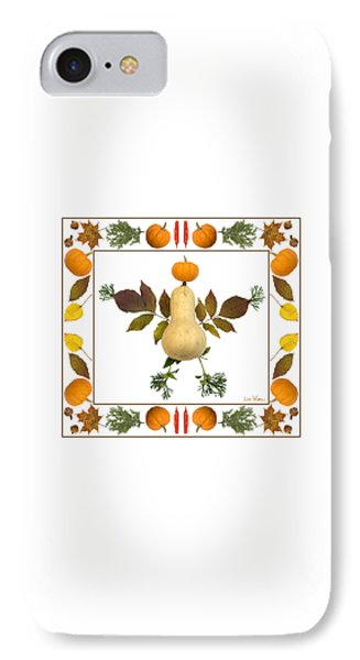 IPhone Case featuring the digital art Squash With Pumpkin Head by Lise Winne