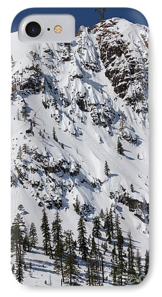 Squaw Valley Tram Hill  IPhone Case by Dustin K Ryan
