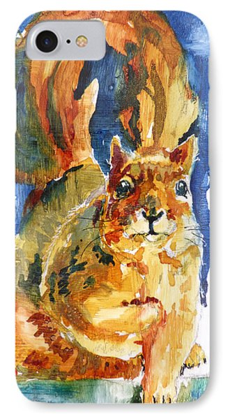 IPhone Case featuring the painting Squeak by P Maure Bausch