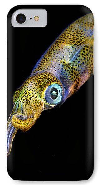 Squid At Night Phone Case by Rico Besserdich