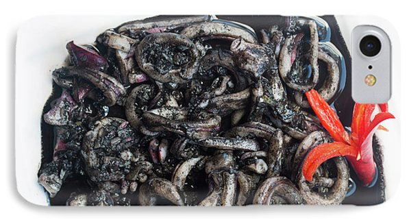 IPhone Case featuring the photograph Squid In Ink by Atiketta Sangasaeng