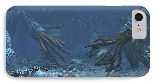 Squid-like Orthoceratites Attempt Phone Case by Walter Myers