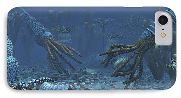 Squid-like Orthoceratites Attempt IPhone Case
