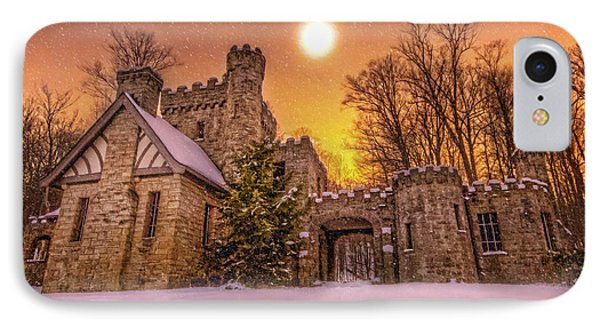 Squires Castle In The Winter IPhone Case by Brent Durken
