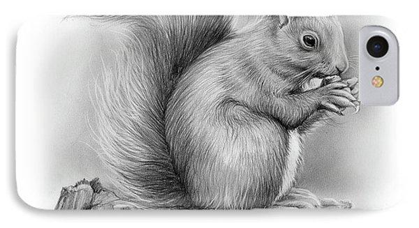 Squirrel iPhone 7 Case - Squirrel by Greg Joens