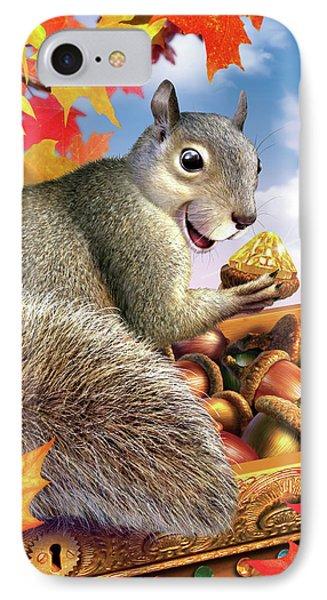 Squirrel iPhone 7 Case - Squirrel Treasure by Jerry LoFaro